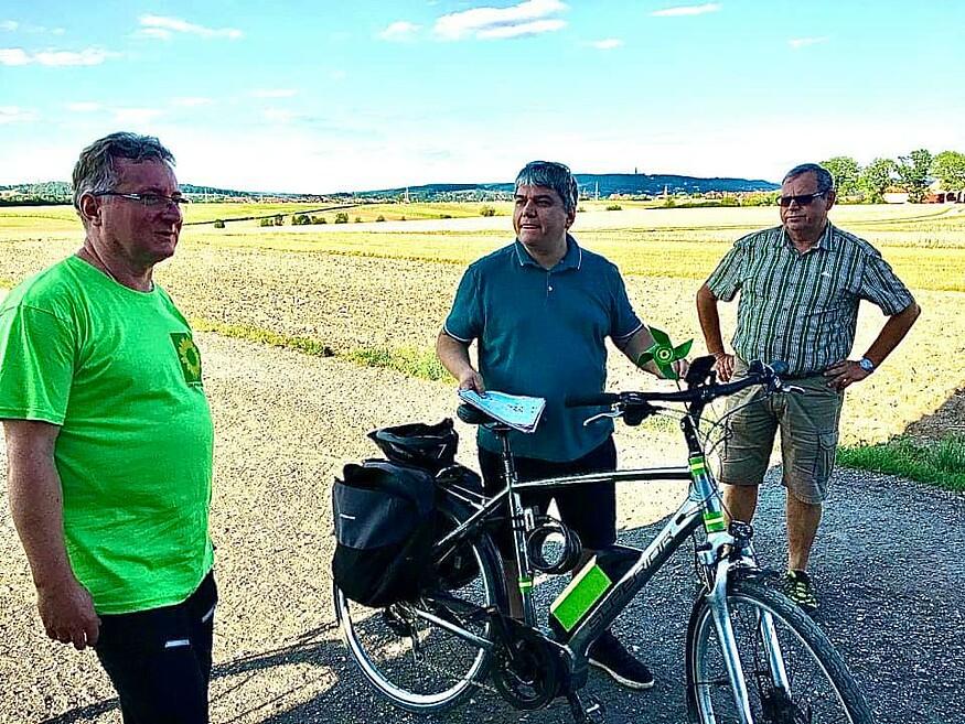 Bahnstromtrasse | Radtour mit dem Grünen MdB
