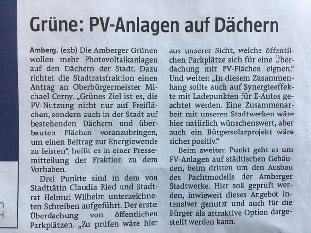 PV-Anlagen in Amberg