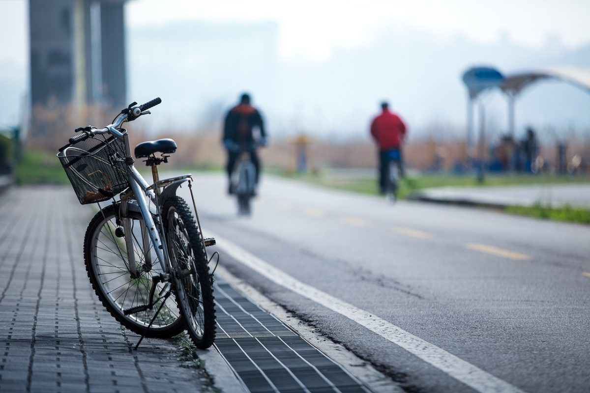 Fahrrad Stadt Amberg Fahrradstreifen